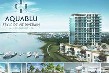 Condos Laval | ARTICLES AQUABLU | Exquisite resort-style living / Condos in Laval | Articles Aquablu | Exquisite resort-style living / by Condos AquaBlu
