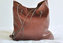 In the Bag / Simple leather bag tutorial / by Kate Drinnan