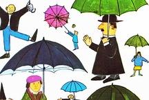 umbrellas / Come visit my blog at http://jennicanknit.blogspot.com/ / by Jenni Swenson