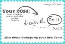 "2014 ""Dream it. Do It."" Board / by Clare"