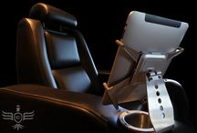 Our Exclusive iPad Chair / Here is our exclusive iPad chair / by Elite Home Theater Seating