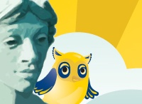 """Who's"" Minerva? / All about the symbols that represent UNCG: Minerva (and her friendly owl) and the Spartan. / by UNCG"
