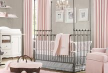 Pink, White, and Grey Nursery Ideas / Grey and pink for a girl / by Lee Patterson