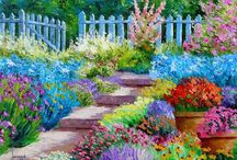Colorful Garden Paintings / by Hal Brower