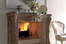 fireplaces / by Gail Richie