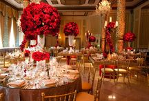 RED ROSE  AND RED CENTERPIECES / by Perfect Petals Design Grp