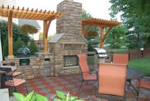 Outdoor Fireplaces / Just a few ideas for your outdoor patio or pool area. / by Best in Backyards