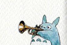 TOTORO <3 / Hehehe so cool / by Zoe Fitzallen:)
