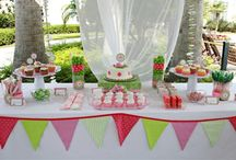 pink and green parties / by Crissy's Crafts