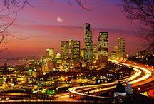 Big city lights and striking skylines / by Brenda Webb Shuemaker Piper