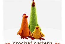 Crocheted Chickens / I LOVE, LOVE, LOVE crochet and I LOVE, LOVE, LOVE chickens-they make me smile.  Please explore all the adorable crocheted chickens (I'll try to include links to where the pattern is available) / by Darleen Hopkins