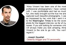 Testimonials / Here is what my clients have to say about working with me. / by Alina Vincent Photography