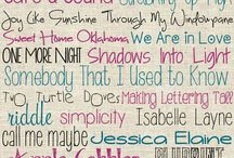 Fonts and frames / by Dianne Tirocchi
