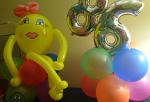 80's look balloon decor / by rosielloons