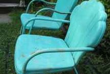 PATIO CHAIRS & TRACTOR SEATS / by Betty & Gary