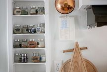 Kitchen Organization / Ideas to maximize usage of space.  / by Kate McKenzie