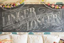 chalkboard art / by Nada Zakaria