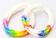 rainbow loom bracelets / by Marya Strand