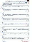 Oberflächenberechnung / #Arbeitsblaetter / #Uebungen / #Aufgaben für den #Mathematikunterricht in der #Hauptschule, #Mittelschule, #Realschule und #Gymnasium. Unterrichtsmaterial zu den Themen: #Geometrie #Oberflaechenberechnung   #Wuerfel #Quader #Prisma #Pyramide #Zylinder #Pyramidenstumpf / by Sabine Eckhardt