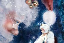 Magical Santa: / I am real as the next person, you may not recognize me, may not see me. I can be many places many times. Some say I live at the south pole----for sure I dwell in the hearts of those who BELIEVE---Love Santa / by Janice Dryden Adair