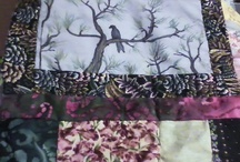 my art quilt / scrap quilting gone wild with my hand painted squares / by Rebecca Willoughby