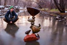 MIchael Grab Rock Art  / Rock on MIchael Grab! The Secret Behind How This Guy Balances Rocks Is Very Unusual. Can You Guess It?    http://www.lifebuzz.com/rocks/ / by Thomas Benner