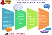 Great stuff from the UIC Student Employment Office / The UIC Student Employment Office is an area within the UIC Office of Career Services. It is a centralized service that offers assistance to UIC students who are looking to find a part-time job either on or off campus. They assist both UIC departments and off-campus employers who are seeking to hire UIC students for part-time job openings. In addition, they sponsor various job fairs throughout the year, and of course, much more.  / by UIC Office of Career Services