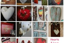 Decor: HEARTS / I heart hearts so this board is all about hearts used in decorating. / by Songbird Blog