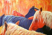 Art - Beautiful Horses / Beauty and strength....an animal to admire and love. / by Jacqueline Brown