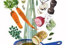Food Illustration / by Taleen Keldjian