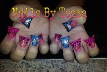 My Nails.... by Tessa / these are pictures of my nails, I will post pics everytime i change them / by Tanya Allen