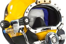 Kirby Morgan Commercial Diving Helmets / by Amron International