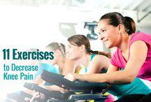 Knee exercises/strenthening/stretching / by Judy Vanhooren
