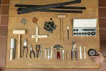 Leer bewerken / leather craft / by SaBee Kralen