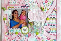 New Year Baby Layout - Adhesives June 2013 / by Scrapbooking.com Magazine