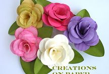 PAPER FLOWERS DIY / by Terry Hobson
