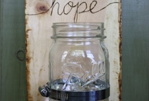 jar bottle can upcycle inspiration / by Renae Findley
