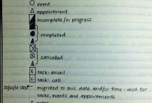 Bullet Journaling and Time Organization / by Michelle Bond