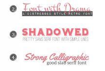 fonts / by Nada Zakaria
