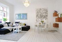 Lovely Living room / Living room, salon/salle à manger d'inspiration scandinave pour la majorité, généralement dans un loft. / by Geeky Girl