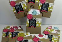 Cards - Chalk Talk & Framelits (2013) / Using the Chalk Talk stamp set and/or the Chalk Talk Framelits, Stampin' Up!, new 2013. / by Margaret Raburn