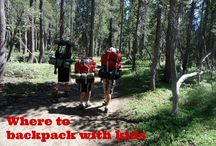 Backpacking with kids: destinations, tips, and gear / Backpacking destinations, tips, and gear for families backpacking with kids! #backpacking #outdoors / by Pit Stops for Kids Travel