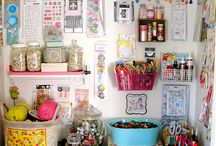 Office / Craft / Sewing / Etc. Room / crafts, sewing, office, records, patterns, beading, scrapping, fiber work, you name it and it's gonna be in here so organization is key / by Tj Armstrong