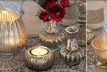 TEELICHTER HOCHZEITSDEKO / Hochwertigen Teelichthaltern, Teelichter, Glässchen und kleine Vasen für Deine Hochzeitsdeko und Tischdekoration. Lass dich inspirieren und besuche unseren Showroom, dort haben wir alle Farben, Größen und Materialen vorrätig - zum anschauen, ausprobieren und anfassen.  / by ♡ weddstyle.de ♡ Hochzeitsdekoration