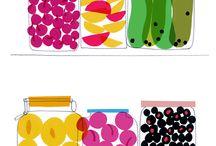 food illustrations / by Tul Hongwiwat