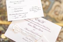 {real wedding} erica and aaron / by Invitations by Ajalon