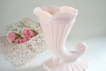 pink milk glass / by Jeralee McNeal