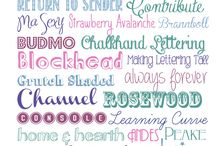 fonts. / by Aundee Schell