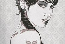vector art & digital portrait / by Romina Lutz Grafik & Illustration