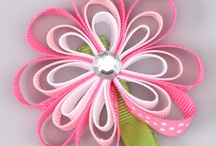 ribbon hair bows / by Gloria